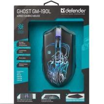 მაუსი ghost GM190L wired gaming black 21901