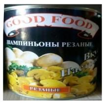 დაჭრილი სოკო good food 800გრ 6901597986866