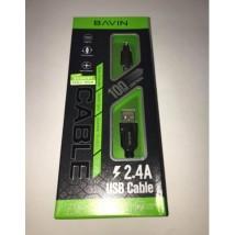 CB-087 ელ. სადენი აღჭურვილი სამარჯვებით USB FOR MICRO  902016